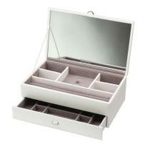 Dulwich Designs 70950 Boutique Medium White Contempory Jewellery Box